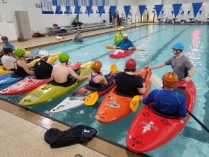 Kayak in-water training